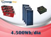 Kit Energia Solar OFF Grid até 4500 Wh / Dia