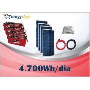 Kit Energia Solar OFF Grid até 4700 Wh / Dia