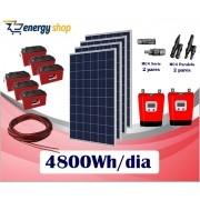 Kit Energia Solar OFF Grid até 4800 Wh/Dia (e-Smart)