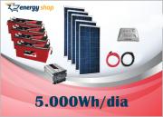 Kit Energia Solar OFF Grid até 5000 Wh / Dia + Inversor 3000W 24/220V