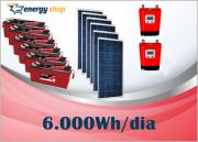 Kit Energia Solar OFF Grid até 6000Wh / Dia - 24V com visor