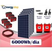 Kit Energia Solar OFF Grid até 6000Wh/Dia (e-Smart)
