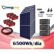 Kit Energia Solar OFF Grid até 6500Wh / Dia