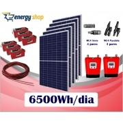 Kit Energia Solar OFF Grid até 6500Wh/Dia (e-Smart)