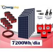 Kit Energia Solar OFF Grid até 7200Wh/Dia (e-Smart)