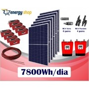 Kit Energia Solar OFF Grid até 7800Wh/Dia (e-Smart)