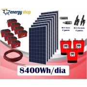 Kit Energia Solar OFF Grid até 8400Wh/Dia (e-Smart)