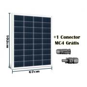 Painel Solar Fotovoltaico Resun 100W (+1 conector MC4)