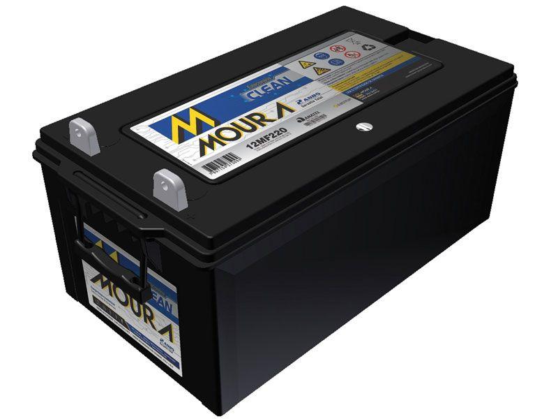 Bateria Solar Moura Clean 12MF220 (220Ah)
