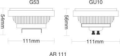 Cjto 06 Lâmpadas LED 15W 12V AR11 - Taschibra