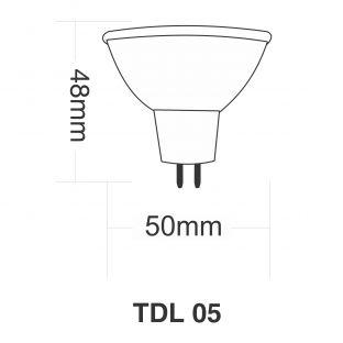 Cjto 06 Lâmpadas LED 5W 12V TDL 05 3000K - Taschibra