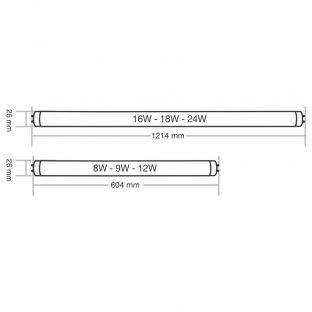 Conjunto 10 Lâmpadas Tubular T8 LED 18W  - Taschibra
