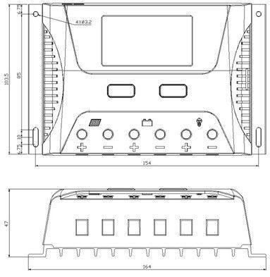 Controlador de Carga Solar SR HP 40A 12/24V PWM