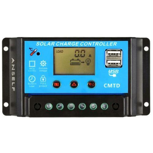 Controlador de Carga Sunergy CMTD20, 10A 12/24V