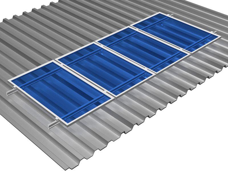 Estrutura Solar para 4 placas - Telhado Ondulada