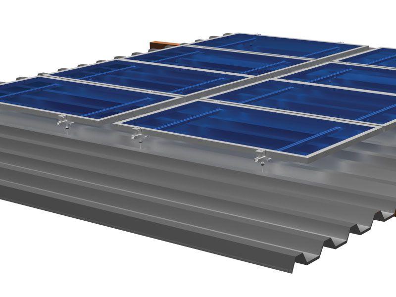 Estrutura Solar para 4 placas - Telhado Fibrocimento
