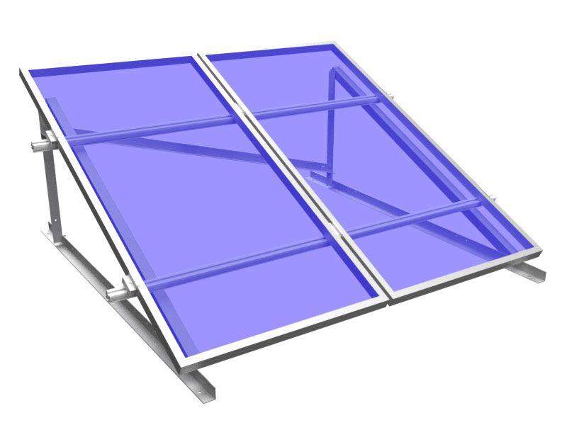 Estrutura Solar para 2 placas - Laje