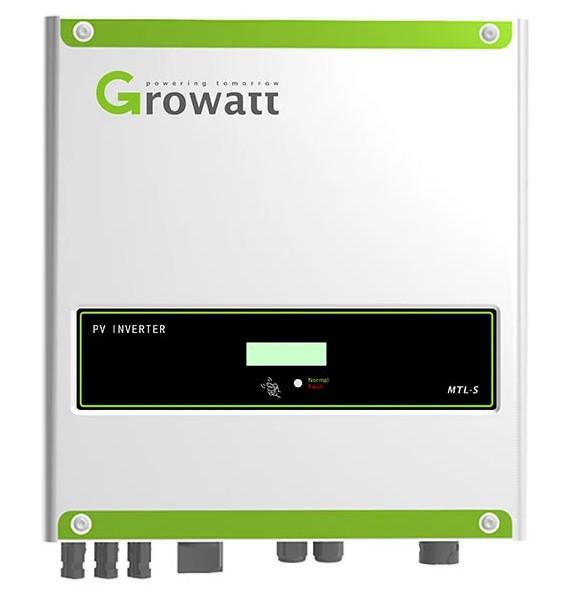 Inversor Grid Tie Growatt 8kW Monofásico 220V 2MPPT