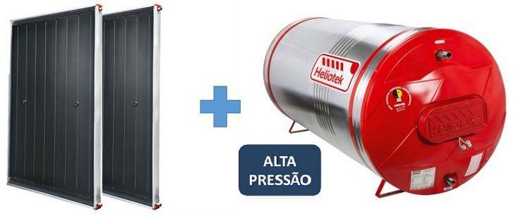Kit Aquecedor Solar Heliotek Alta Pressão 300 litros