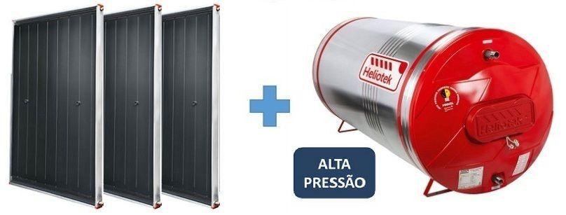 Kit Aquecedor Solar Heliotek Alta Pressão 400 litros