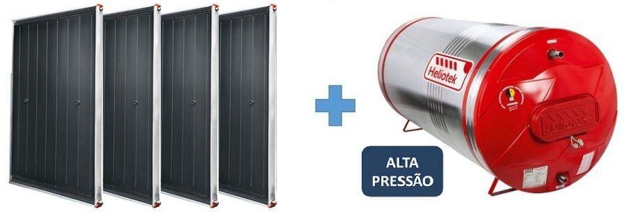 Kit Aquecedor Solar Heliotek Alta Pressão 600 litros