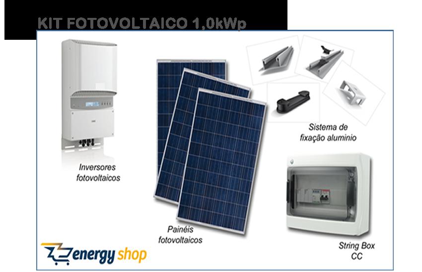 Kit Energia Solar Grid Tie 1,0KW | Instalado