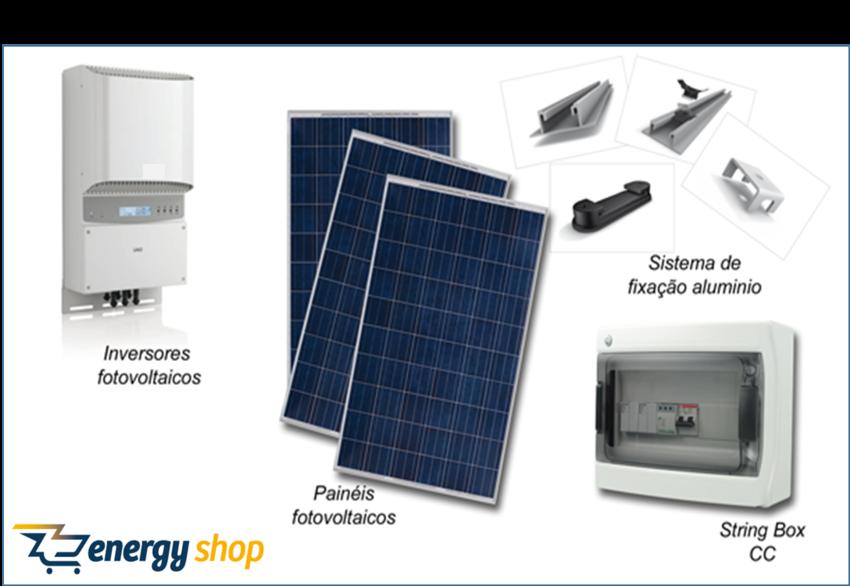 Kit Energia Solar Grid Tie 6kW