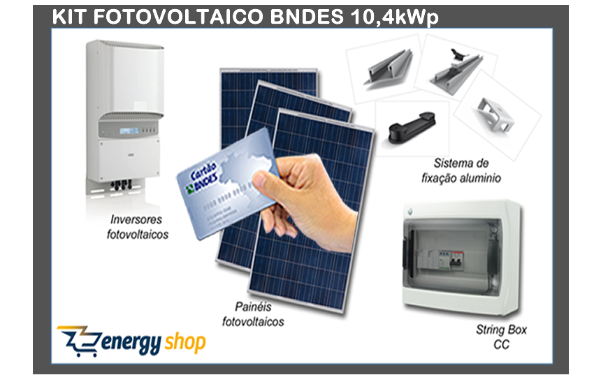 Kit Energia Solar Grid Tie BNDES 10KW | Instalado