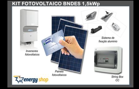 Kit Energia Solar Grid Tie BNDES 1,5 kW