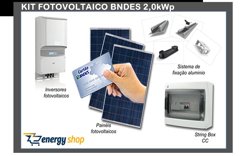 Kit Energia Solar Grid Tie BNDES 2,0KW | Instalado