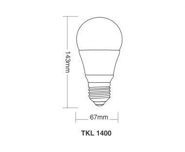 Lâmpada LED 13,5W TKL 1400 6500K - Taschibra