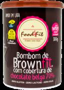 Bombom de Brownfit com cobertura de chocolate belga 70%, 300g – Food4Fit
