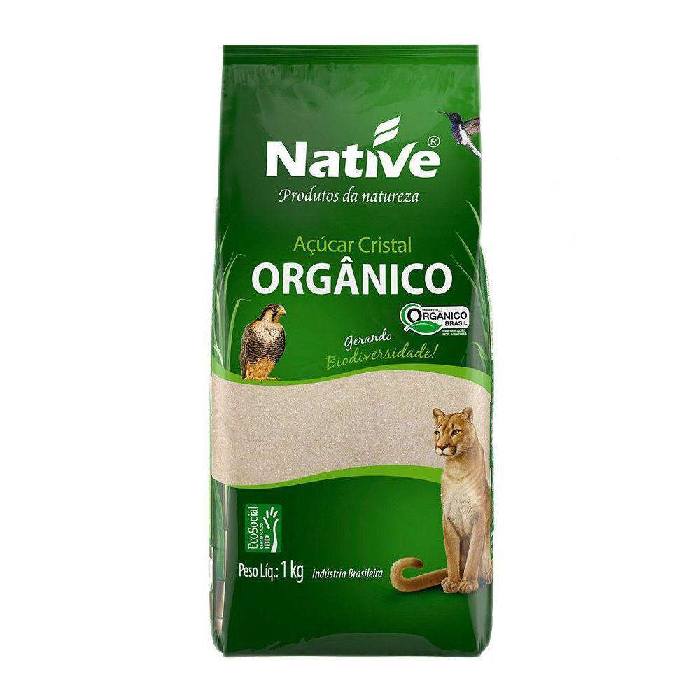 Açúcar cristal orgânico, 1kg – Native