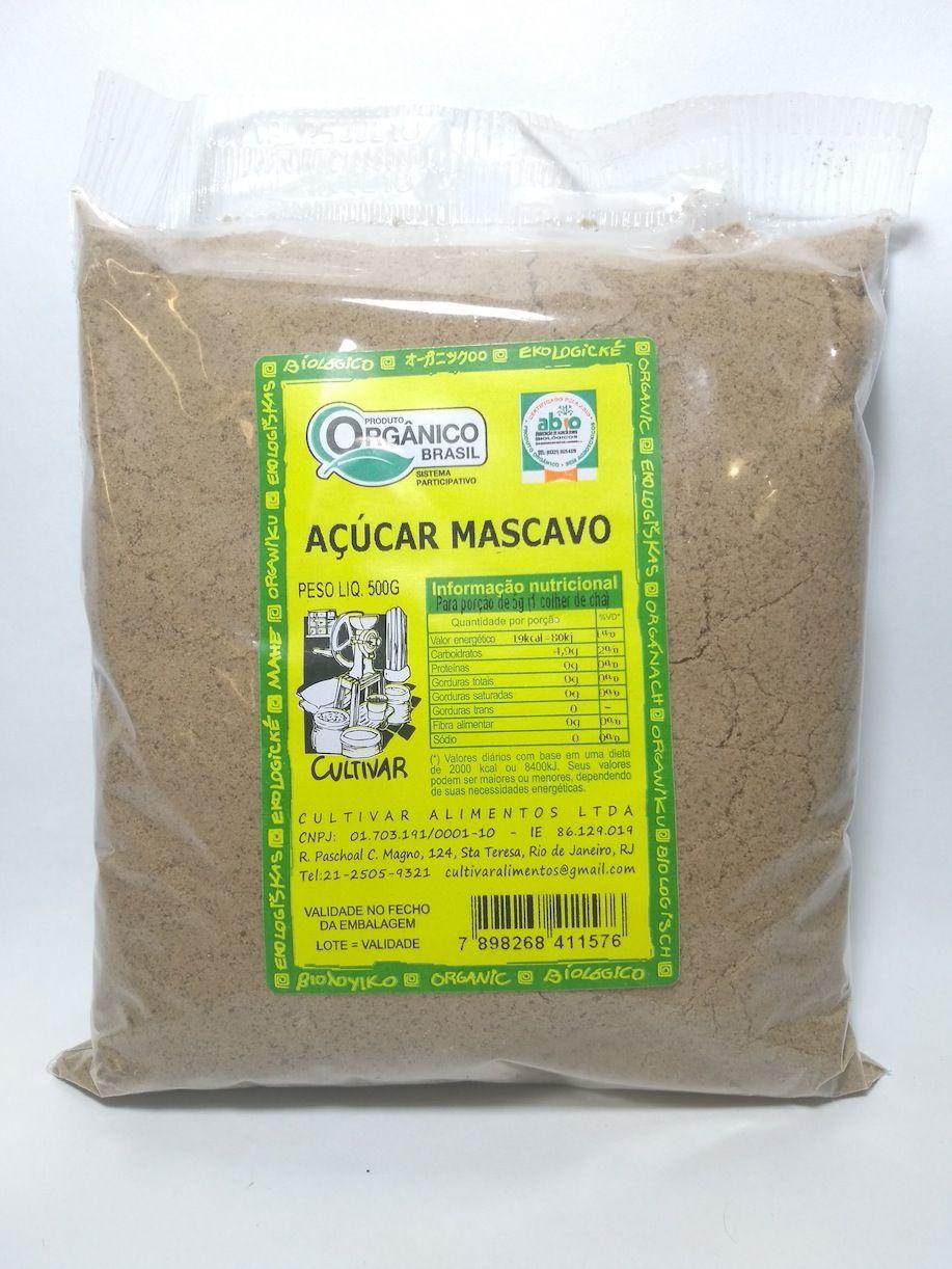 Açúcar mascavo orgânico, 500g – Cultivar