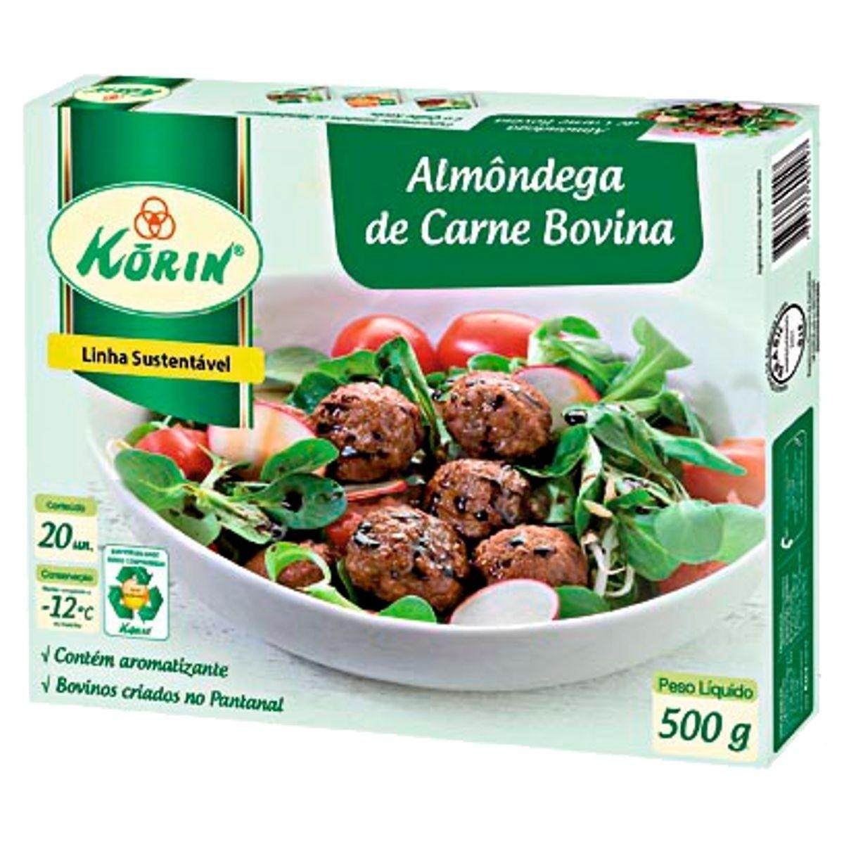 Almôndega de Carne Bovina 500g - Korin