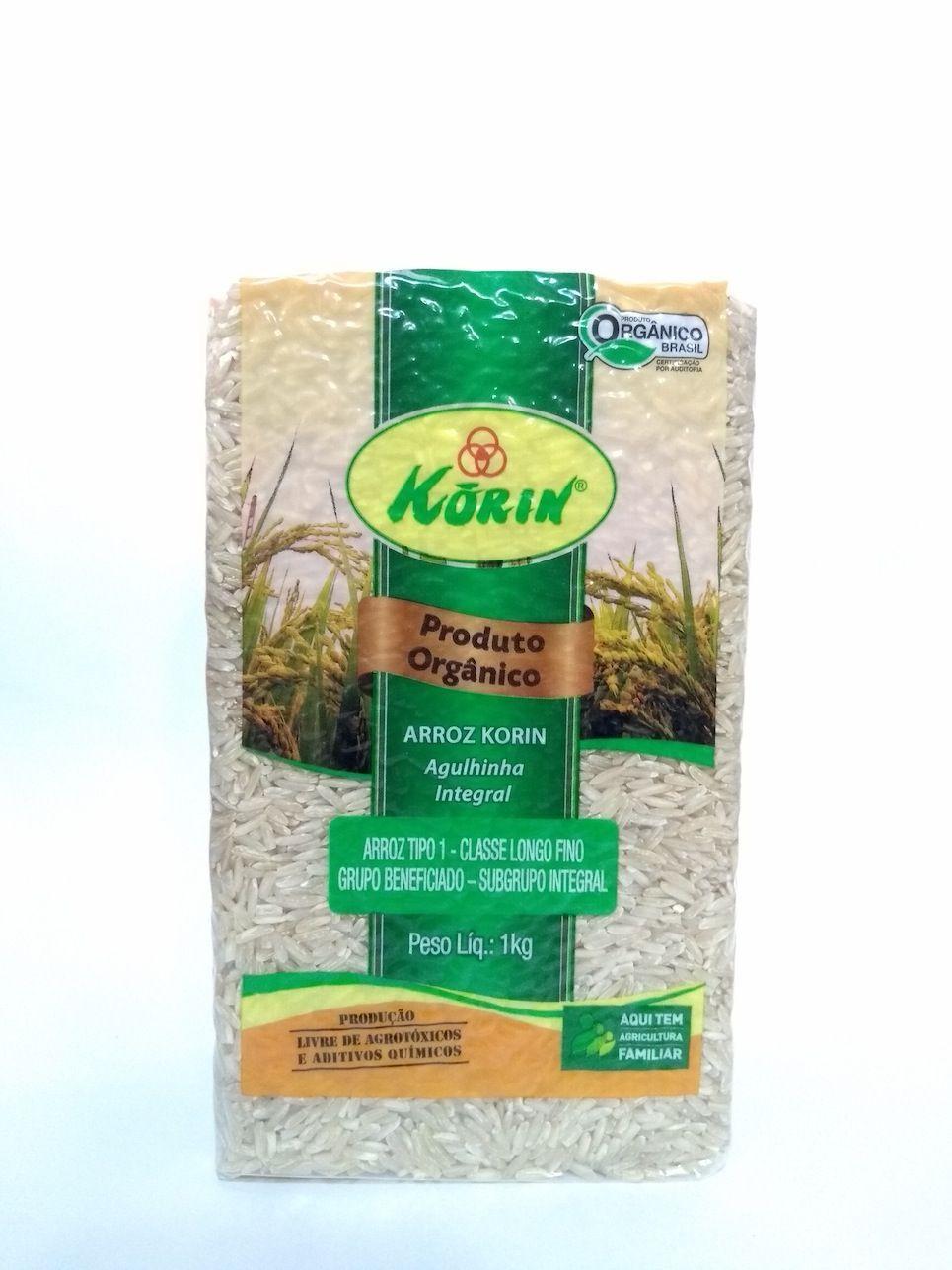 Arroz agulhinha integral orgânico, 1kg – Korin