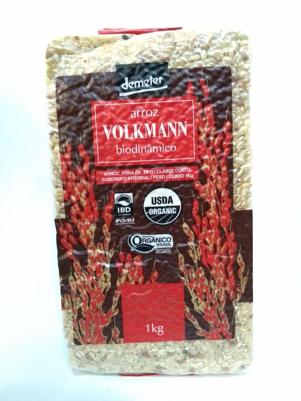Arroz especial cateto integral com vermelho biodinâmico, 1kg – Volkmann