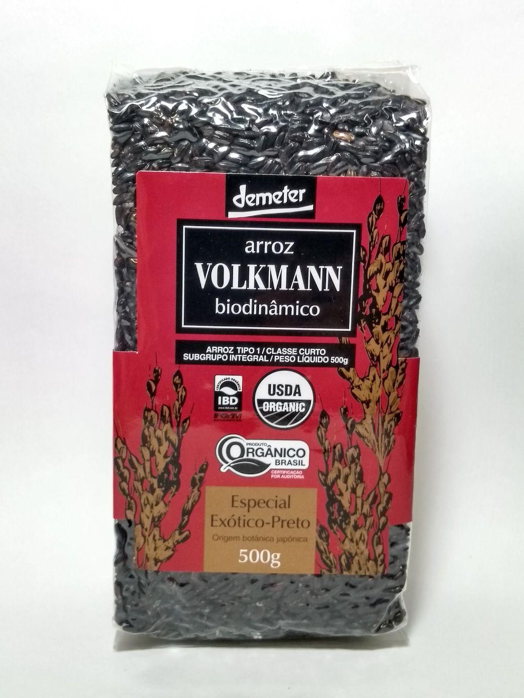 Arroz especial exótico-preto biodinâmico, 500g – Volkmann