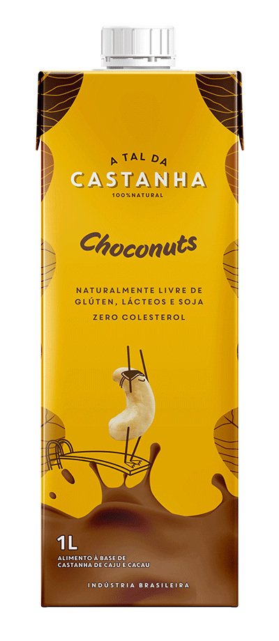 Bebida Vegetal de Castanha de Caju e Cacau (Choconuts), 1L – A Tal da Castanha
