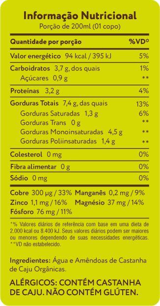 Bebida de castanha de caju original – A Tal da Castanha - 1L