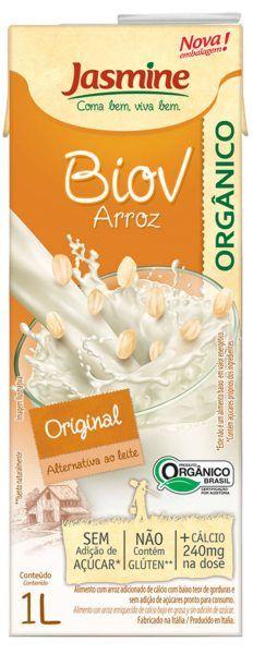 Biov bebida vegetal orgânica de arroz com cálcio, 1L -  Jasmine