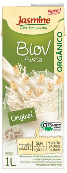 Biov bebida vegetal orgânica de aveia com cálcio, 1L -  Jasmine
