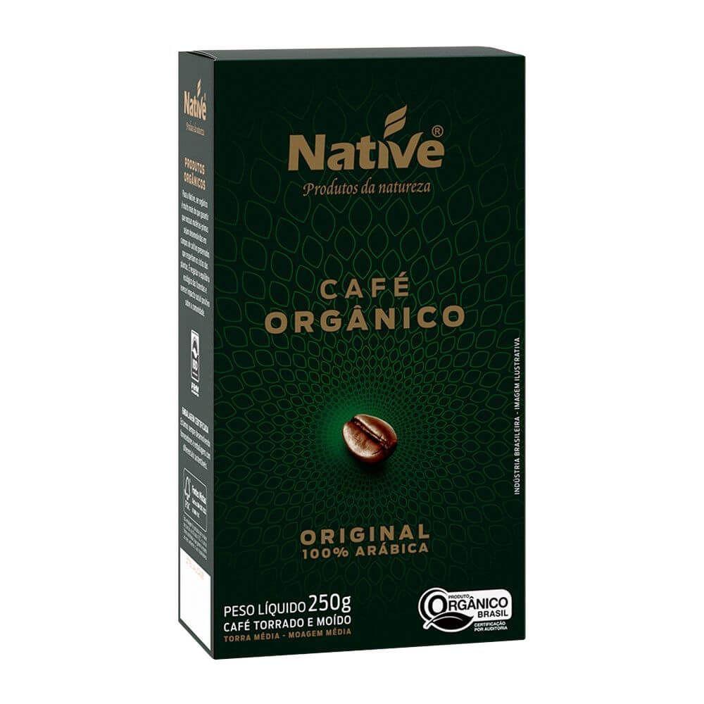 Café orgânico torrado e moído, original, 250g – Native