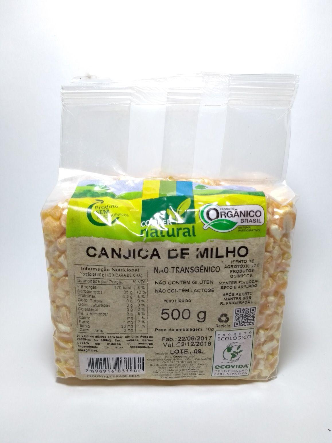 Canjica de milho orgânica, 500g – Coopernatural
