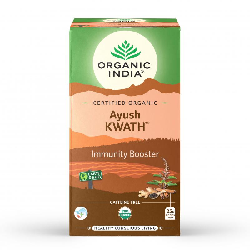 Chá Tulsi Booster Imunidade - Ayush Kwath - Organic India