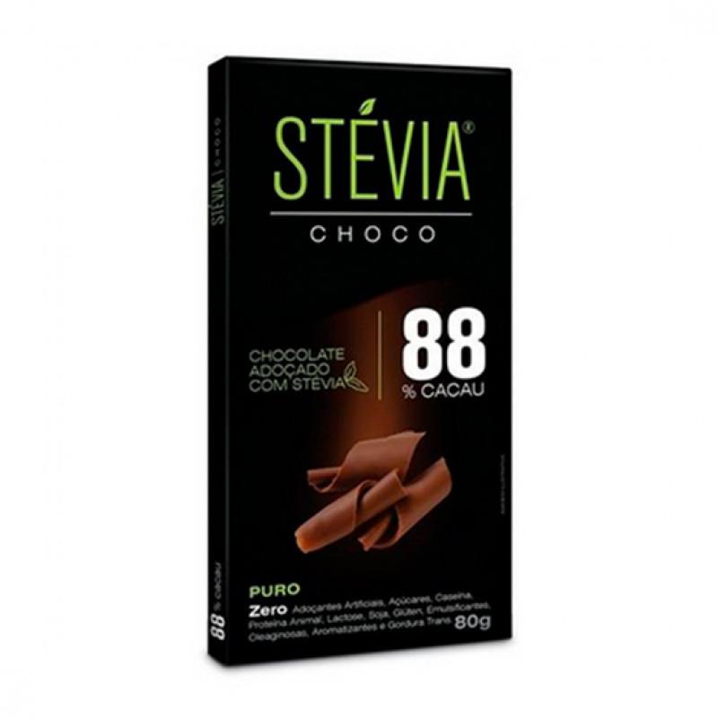 Chocolate adoçado com Stevia (Com Porcentagens diferentes) - Stevia Choco