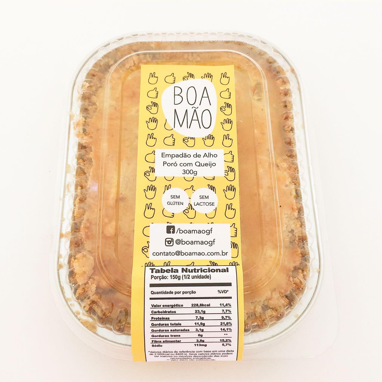 Empadão de alho poró com queijo, 300g – Boa Mão