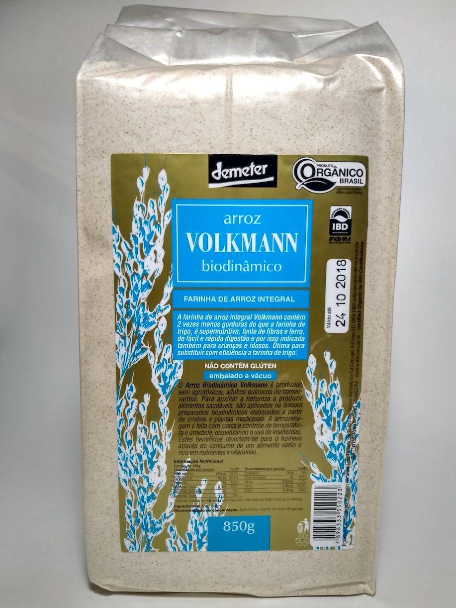 Farinha de arroz integral orgânica, 850g – Volkmann