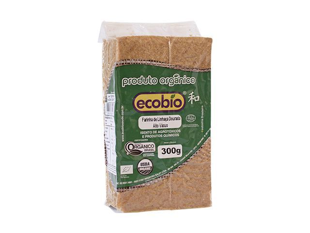 Farinha de linhaça dourada orgânica, 300g – Ecobio
