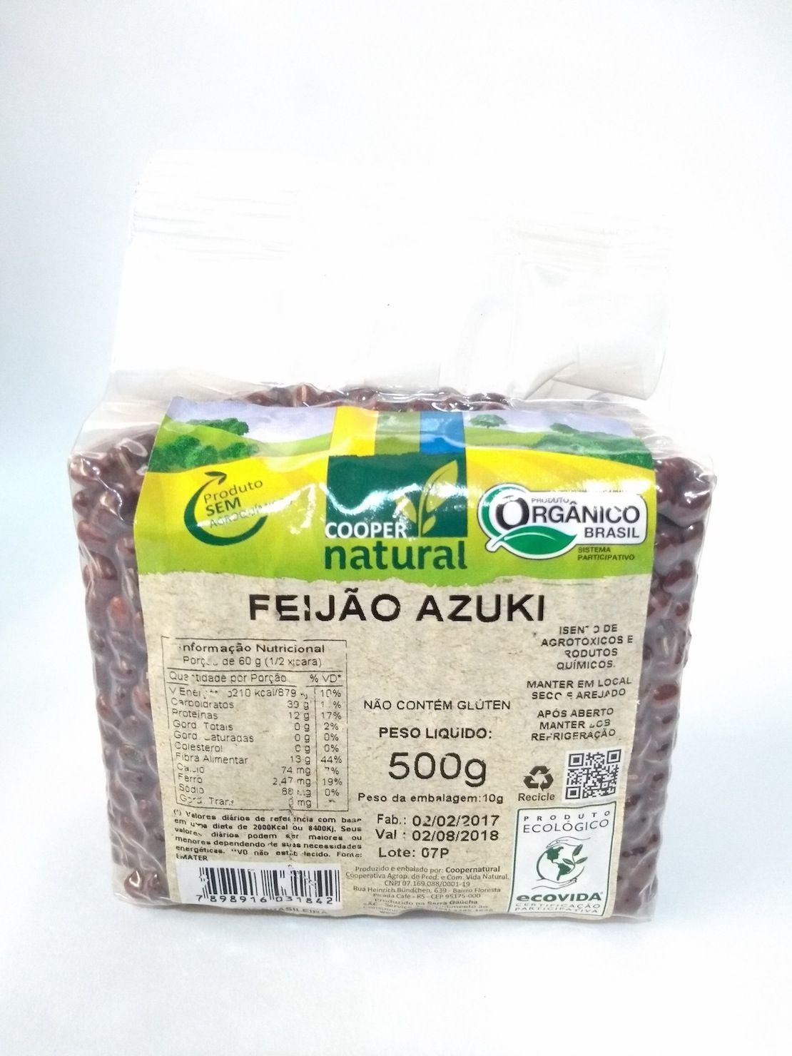 Feijão azuki orgânico, 500g – Coopernatural